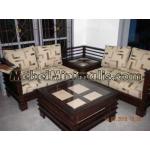 Jati Jepara Meja Kursi Tamu Sudut Sofa