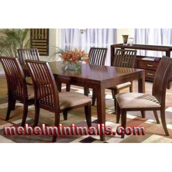 Pusat Mebel Bandung Kursi Makan Jati Minimalis MM 091