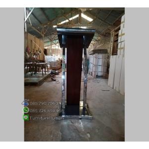 Furniture Jati Podium Pidato Minimalis
