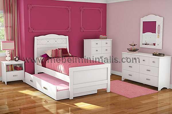set tempat tidur anak perempuan mm 386 jual tempat tidur