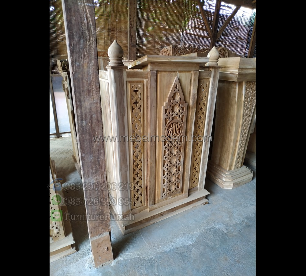 Furniture Jati Podium Kayu Minimalis MM PM 515