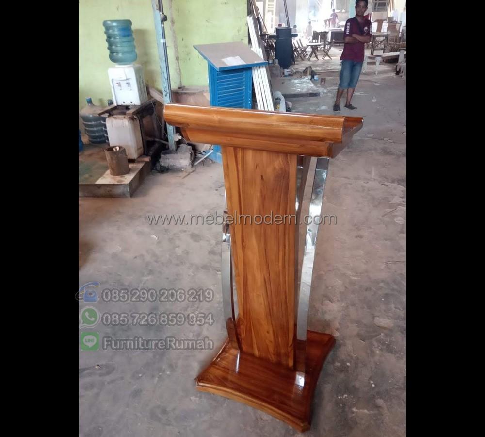Furniture Jati Podium Mimbar Minimalis MM PM 590