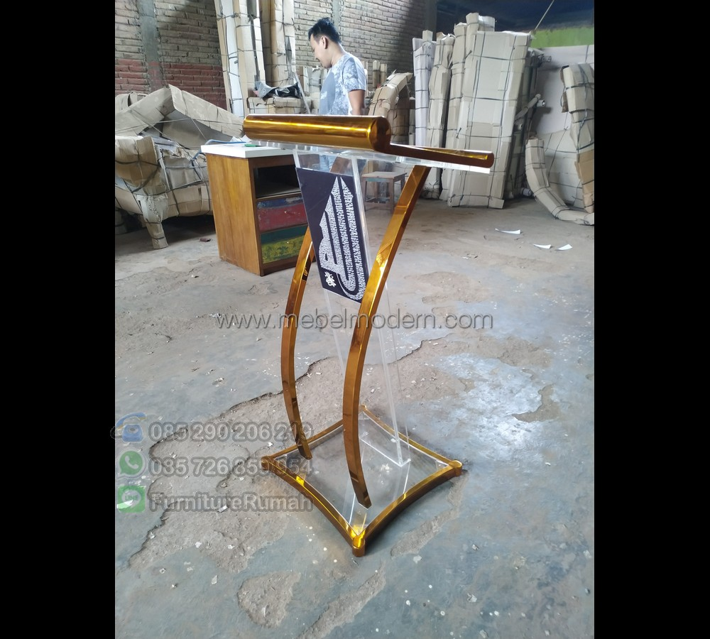 Furniture Minimalis Mimbar Mushola Minimalis MM PM 436