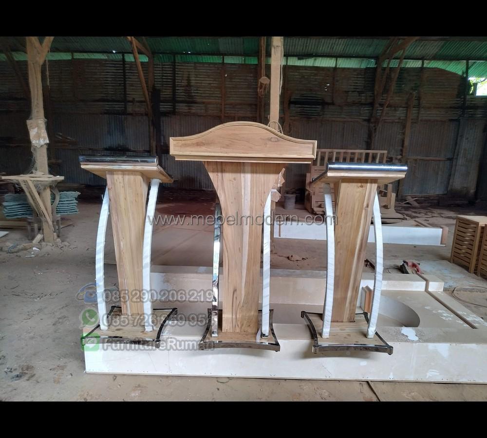Furniture Modern Mimbar Masjid Ukir MM PM 369