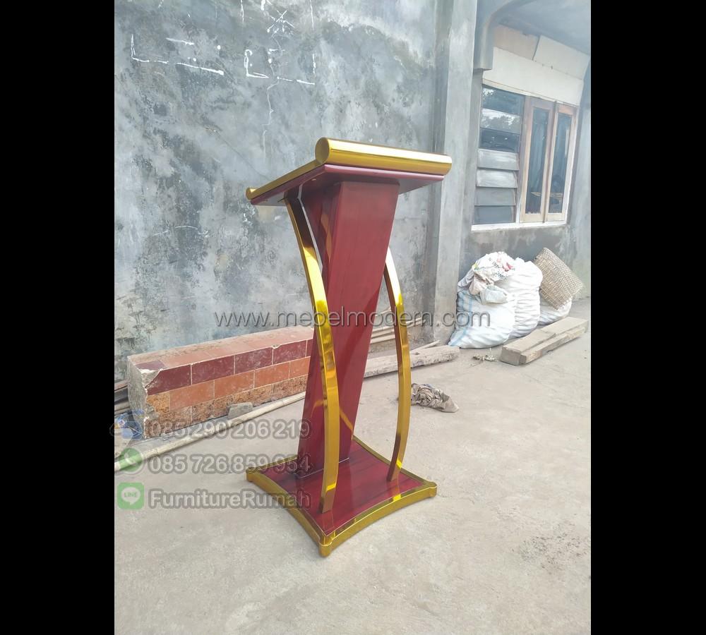 Mebel Jati Mimbar Masjid Stainless MM PM 266