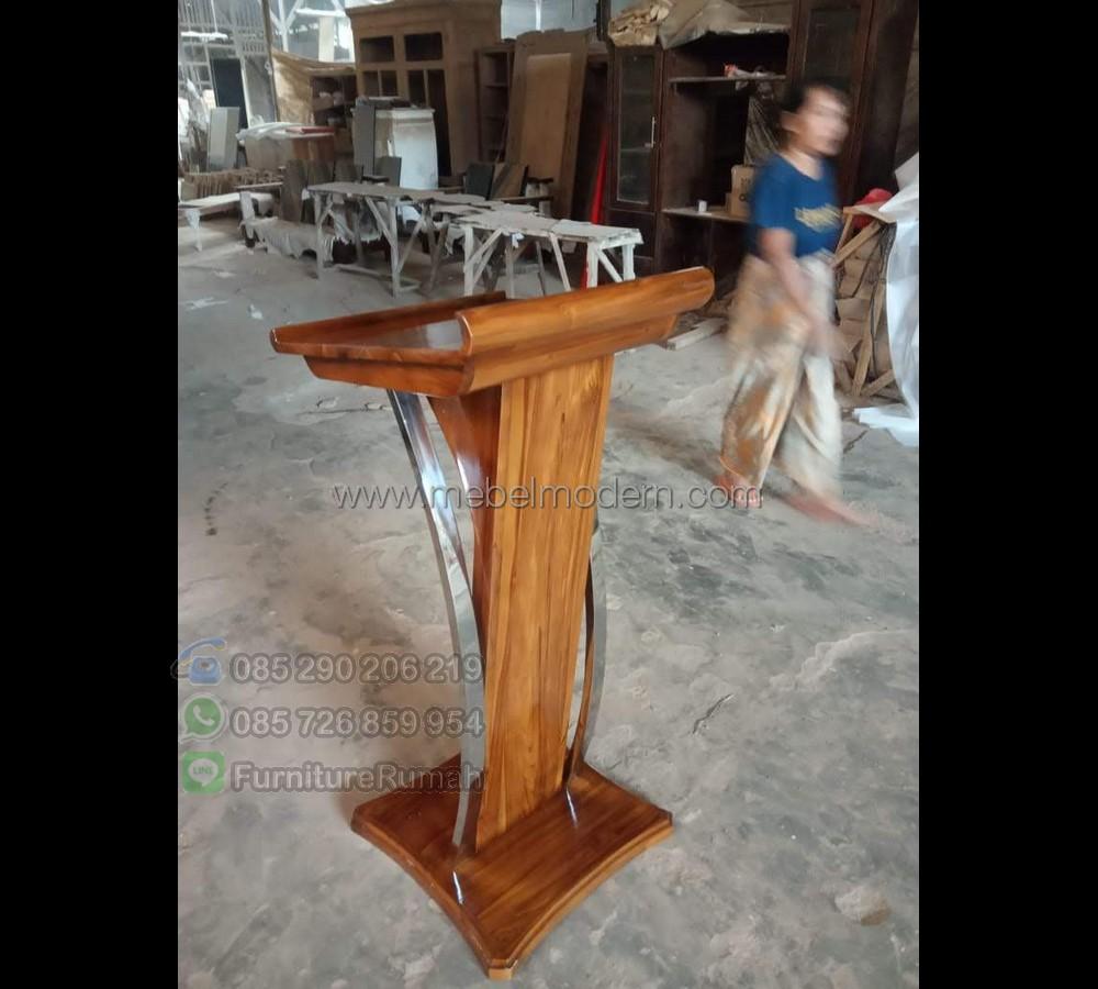 Mebel Jepara Contoh Mimbar Masjid Terbaru MM PM 589