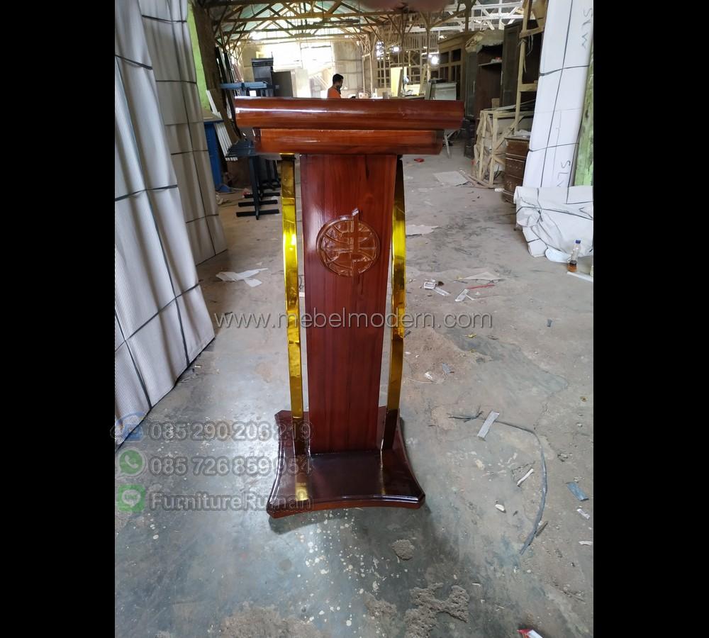 Produk Unggulan Mimbar Gereja Murah MM PM 305